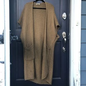 Anthropologie woven throw on / cardigan